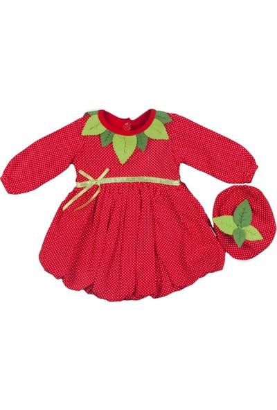 Babyrico Kırmızı Kız Çilek Elbise