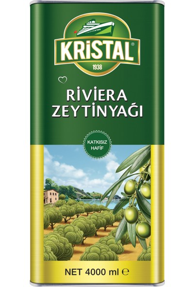Kristal Riviera Zeytinyağı Teneke Kutu 4 Litre