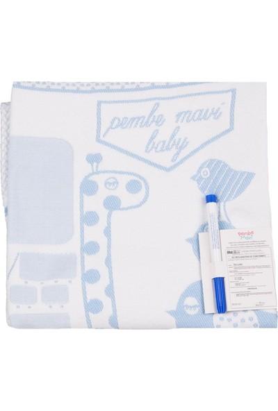 Pembe Mavi Anı Battaniyesi