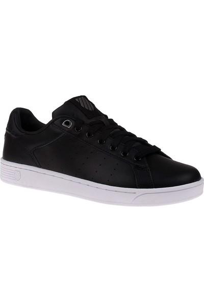 K-Swiss Black White 05353-002-M Clean Court Cmf Kswiss Ayakkabı