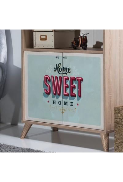 Carla Home Sweet Meşe Çok Amaçlı Dolap