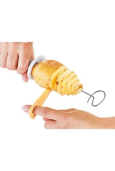 Wildlebend Spiral Patates Dilimleyici Aparat Çubukta Patates Cips Yapma