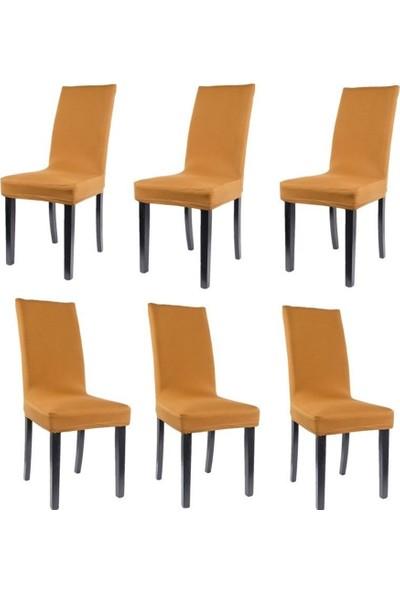 Sandalye Kılıfı - Dalgıç Kumaş - Likralı - Hardal