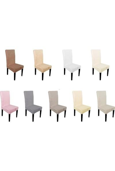 Sandalye Kılıfı - Dalgıç Kumaş - Likralı - Füme 6 Adet