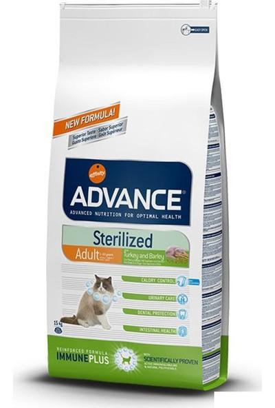 Advance Sterilized Hindili Kısırlaştırılmış Yetişkin Kedi Maması 15 Kg