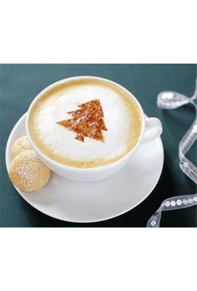Toptanciniz 4 Lü Kahve-Pasta Süsleme Şablonu