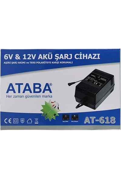 Ataba At-618 6-12V 1800 Mah Akü Şarj Adaptörü