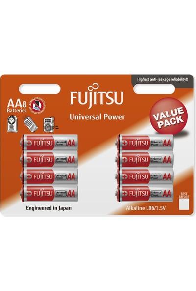 Fujitsu Universal Power Lr06 Alkaline Kalem Aa Size Pil 8Li Blister