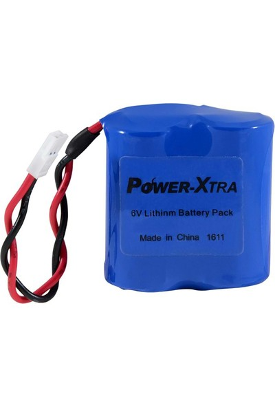 Power-Xtra 6V (1400 Mah) Cr 123A Lithium Soketli Batarya