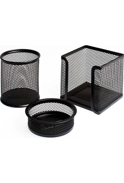 Bion Perfore 3'Lü Masaüstü Set Siyah