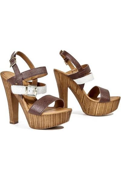 Desa Megan Kadın Sandalet Kahverengi
