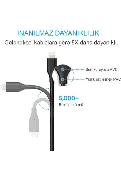 Anker Lightning 0.9 Metre iPhone Şarj/Data Kablosu MFI Lisanslı- Siyah