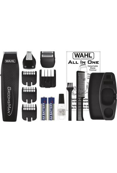Wahl Groomsman All in One Saç, Sakal ve Bıyık Düzeltme ve Şekil Verme Kiti-Pilli