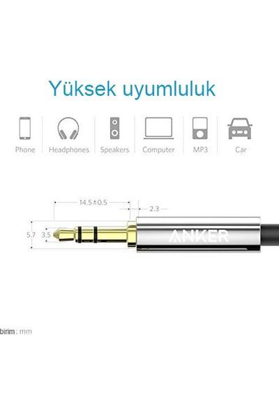 Anker 3.5mm Aux Ses Kablosu 1.2 mt - Siyah - A7123