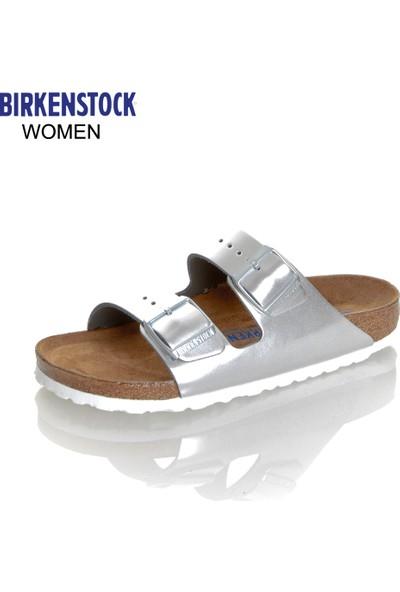 Birkenstock 1005961 Arizona Nl Metallic Silver Terlik