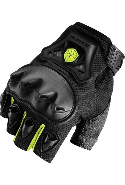 Scoyco Mc29 Parmaksız Eldiven Siyah/Sarı