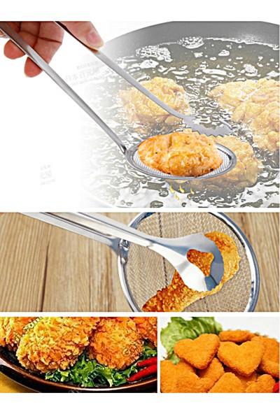 Kitchen Love Çelik-Süzgeçli Kızartma Maşası