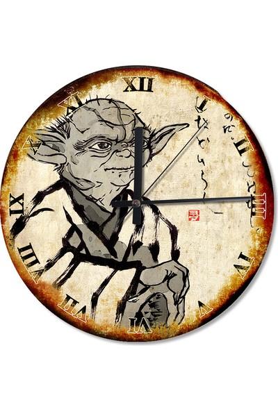 Tablomega Star Wars Yoda D'Kana Dekoratif Duvar Saati
