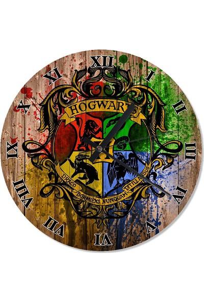 Tablomega Harry Potter Hogwarts Baskılı Duvar Saati
