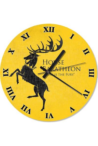 Tablomega GoT House Baratheon Sessiz Duvar Saati