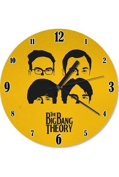 Tablomega The Big Bang Theory Tasarım Duvar Saati