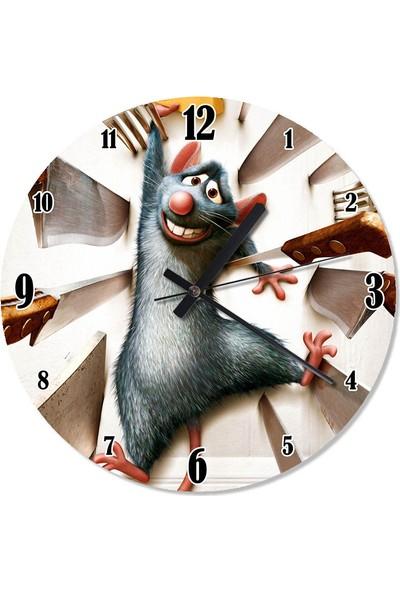 Tablomega Aşçı Fare Ratatouille Çocuk Odası Duvar Saati
