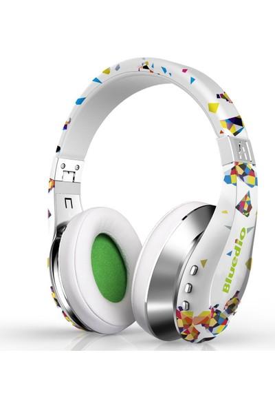Bluedio A (Air) Stylish Wireless Bluetooth Headphones Mikrofonlu Kulaklık Beyaz Ekstra Bass