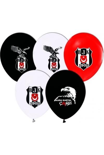 SihirliParti Sihirli Parti Çift Taraflı Beşiktaş Baskılı Balon