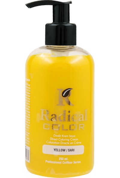 Radical Color Su Bazlı Saç Boyası Sarı 250 Ml