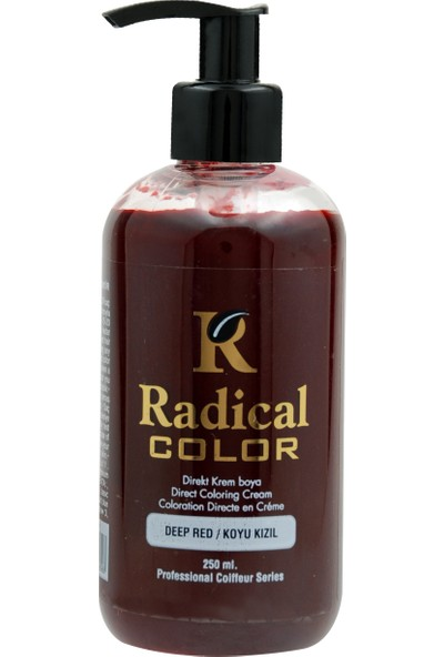 Radical Color Su Bazlı Saç Boyası Koyu Kızıl 250 Ml