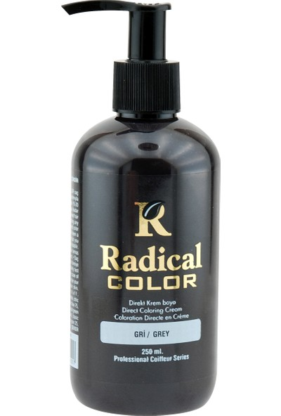 Radical Color Su Bazlı Saç Boyası Gri 250 Ml