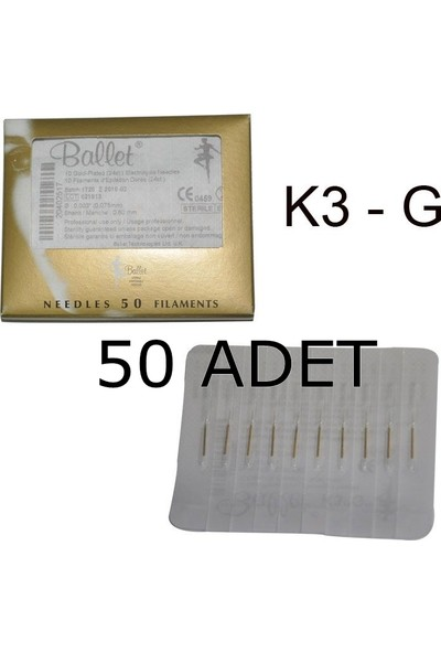 Ballet Gold K3G Altın Epilasyon İğnesi 50 Li Paket