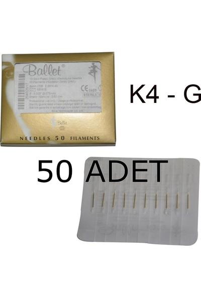 Ballet Gold K4G Altın Epilasyon İğnesi 50 Li Paket