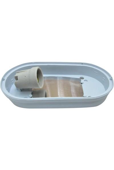 Feysan Şeffaf Camlı Kafesli Oval Armatür