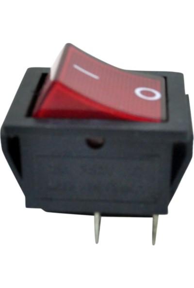 El-Max W-502 Işıklı Geniş Tip 4 Pin On-Off (27X22)