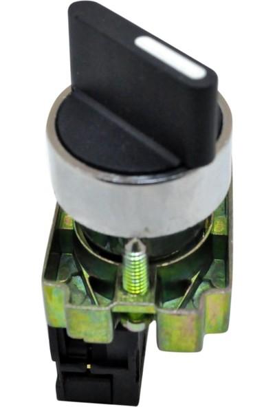 El-Max Lay5 (Db2) Bd21 Kalıcı Mandal Buton 0-1 Q22 1No (Siyah)