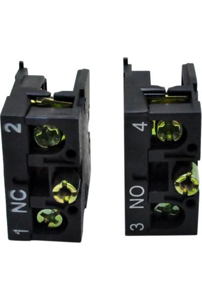 El-Max Lay5 (Db2) Be101 Yedek Kontak Blok Q22 1No (Yeşil)
