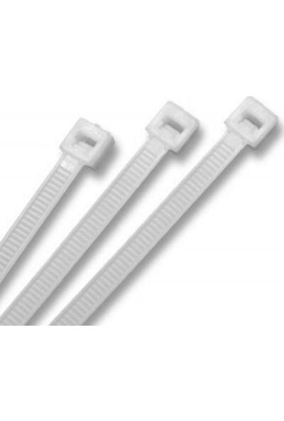 Çetinkaya 200X2,5 Mm Klips (Kablo Bağı) - Beyaz (100 Ad'Lik Poşet)