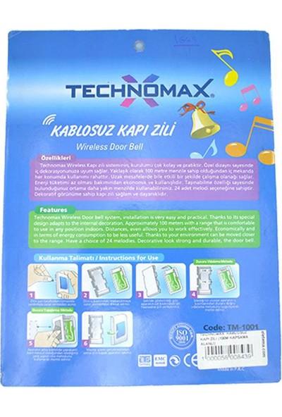Technomax Uzaktan Kumandalı Kapı Zili (100M Kapsama Alanlı)