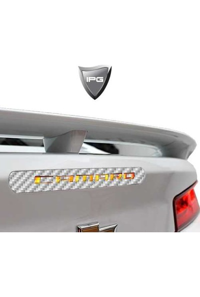 IPG Chevrolet Camaro Arka Fren Stop Lambası Gümüş - Karbon Fiber Koruyucu