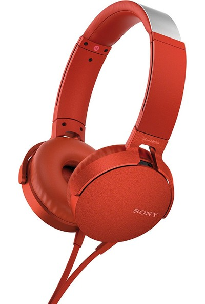 Sony MDRXB550APR.CE7 Kulaküstü Kulaklık Kırmızı