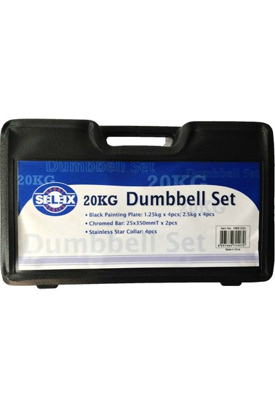 Selex Dbs 1203 20 Kg Dumbell Set