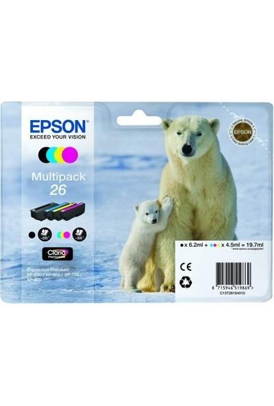 Epson 26 T261640 4Lü Set Kartuş Xp-600 / Xp-700 / Xp-800