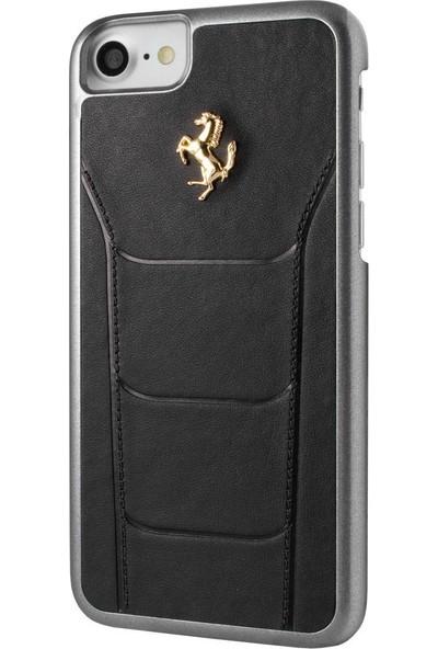 Remeto Ferrari İphone 7 Siyah Deri Kılıf