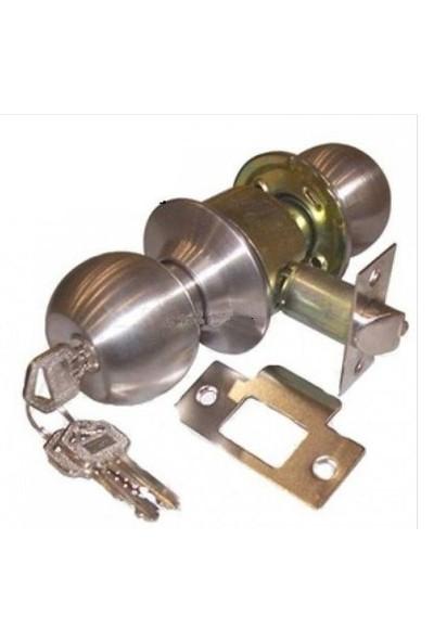 Tenyale Topuzlu İç Kapı Kilidi Saten - Anahtarlı