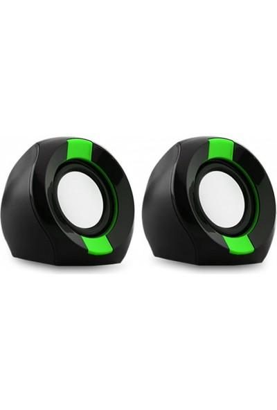 Snopy Icon202 2.0 2W Rms Siyah/Yeşil Speaker