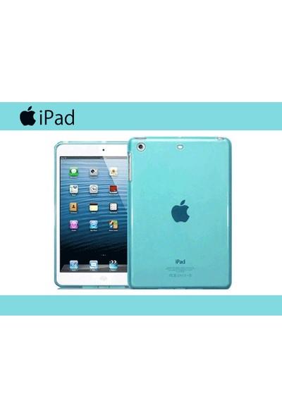 Serhan Apple iPad Air 2 Tablet Süper Mavi Silikon Kılıf+Kalem