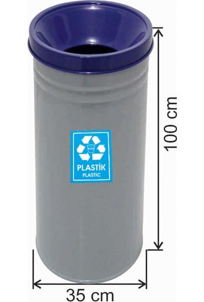 Avrupa Tedarik Geri Dönüşüm Çöp Kovası Boyalı 35*100 Mavi