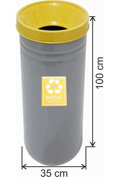 Avrupa Tedarik Geri Dönüşüm Çöp Kovası Boyalı 35*100 Sarı