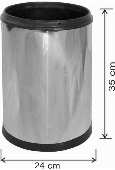 Avrupa Tedarik Ofis Tipi Çöp Kovası 12 Litre Paslanmaz